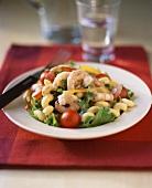 Shrimp and pasta salad