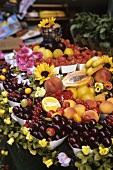 Fresh fruit on a fruit stall