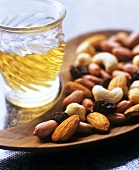 Mixed nuts and a glass of sherry