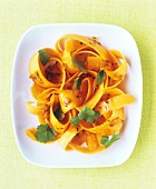 Carrot salad with coriander leaves and caraway