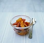 Nectarine and watermelon fruit salad