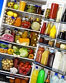 View of food in a refrigerator
