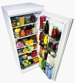 Food in a refrigerator