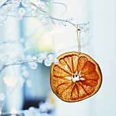 Tree ornament: glazed orange slice