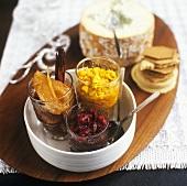 Cranberrychutney, Birnenchutney und Gemüsechutney