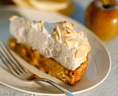 A piece of apple meringue pie