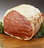 Raw joint of beef (topside)