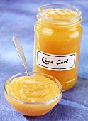 Lime curd (Conserve made with limes, UK)