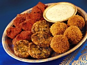 Plate of Indian snacks