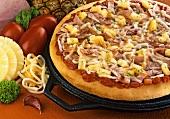Hawaiian pizza (with ham and pineapple)