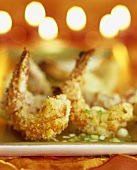 Oven-baked coconut prawns with lime dip