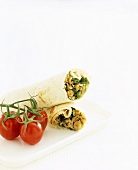 Tuna and bean wrap (with tinned ingredients)