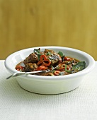 Low-fat sausage and vegetable stew