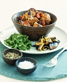 Bombay chicken with spinach and mushrooms