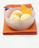 Low-fat lime and mango ice cream