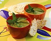 Englische Erbsen-Minz-Suppe
