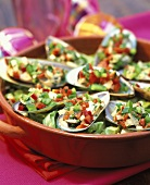 Green-lipped mussels with vegetable vinaigrette