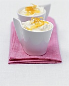 Low-fat lemon creams