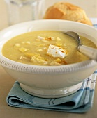 Fish chowder made with low-fat yoghurt