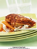 Blackened chicken (Grilled chicken breast with Cajun seasonings)