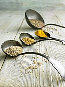 Spices in old ladles