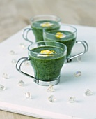 Hot watercress soup with crème fraîche