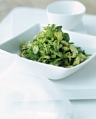 Stir-fried Brussels sprouts with sesame (cooked in wok)
