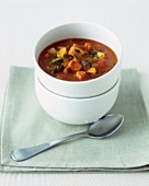 Spicy turkey, vegetable & bacon stew with Madras curry sauce