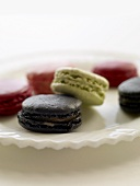 Macarons (small French cakes) in various flavours