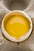 Raw egg in eggshell