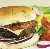 Hamburger with Angus beef burger (Scotland)