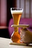 Ein typisches, belgisches Bierglas