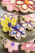 Iced biscuits (flowers and butterfly)