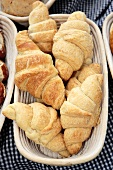 Home-baked organic croissants