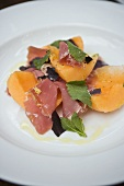 Parma ham with melon