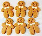 Six gingerbread men