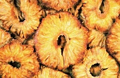Dried pineapple slices (full-frame)