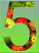 Five-a-day poster, represented by fruit