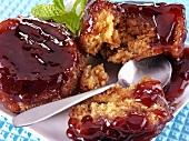 Steamed jam sponge puddings (UK)