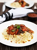 Vegetable tajine with couscous
