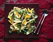 Chicory, orange and watercress salad