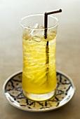 Iced tea with chrysanthemum juice