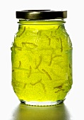 Lime marmalade in a jar