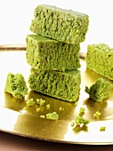 Pistachio barfi (Pistachio sweets, India)