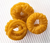 Jalebis (Sweet deep-fried batter spirals, India)