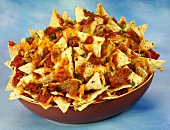 Texas nachos with salsa dip