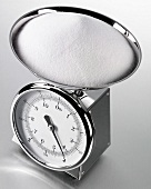 Salt on kitchen scales
