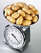 Potatoes on kitchen scales