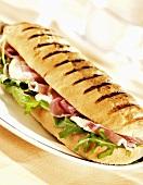 Panino prosciutto e mozzarella (Ham and cheese sandwich)