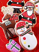 Colourful Christmas biscuits